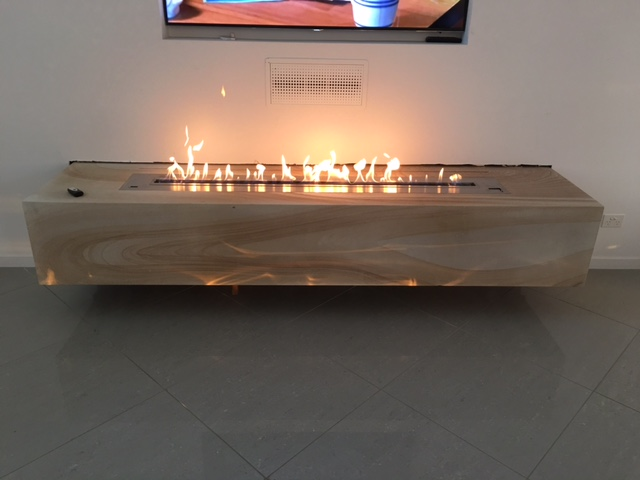Intelligent ethanol fireplace AF180 with remote