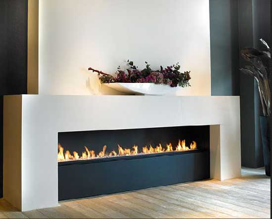 modern automatic ethanol fireplace