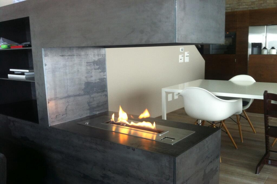 art intelligent ethanol burner af66 model with remote