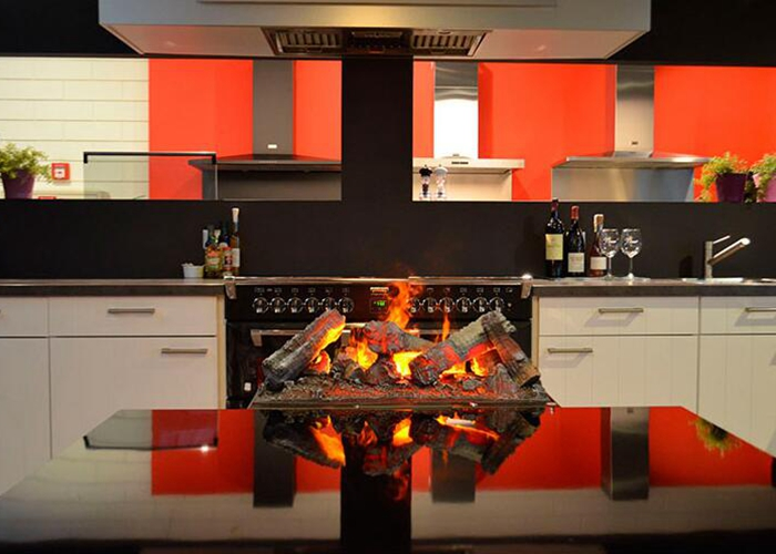 design water vapor fireplace no heat