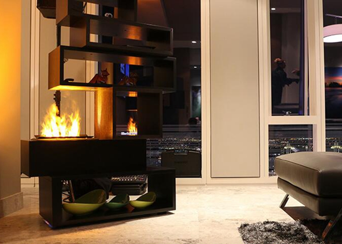 water fireplace with wifi controller