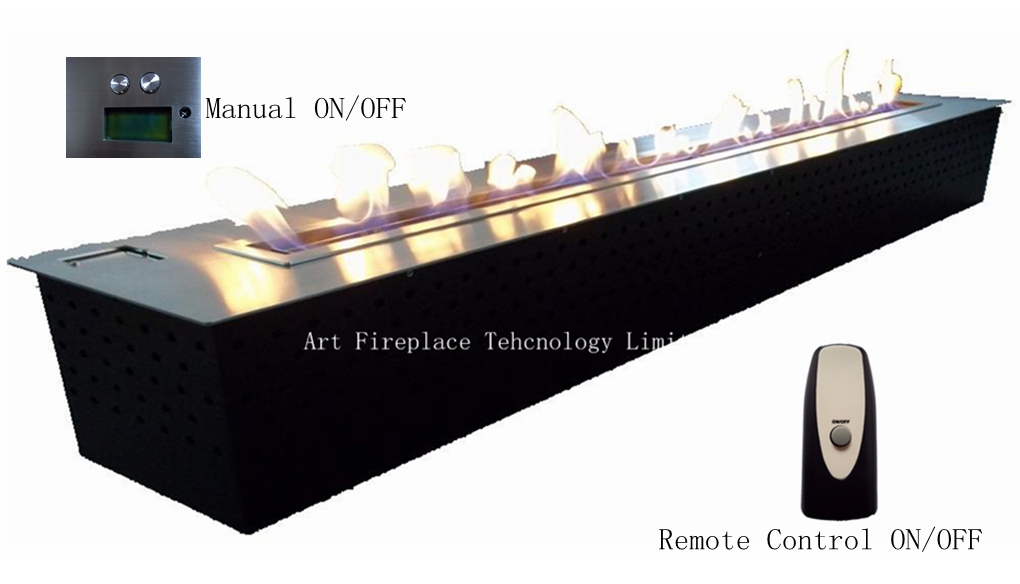 art ethanol burner with remote controller