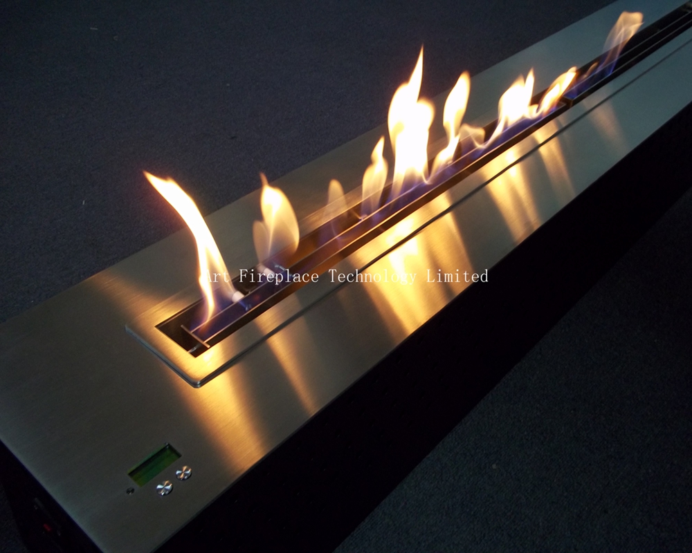 modern design intelligent ethanol fireplace with remote control