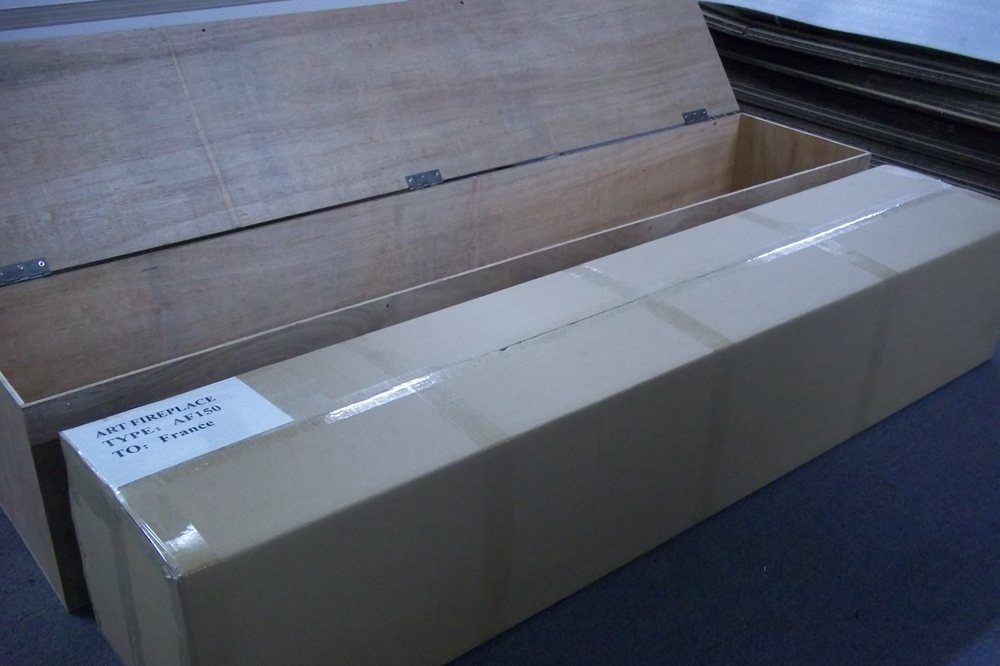 package of art ethanol fireplace
